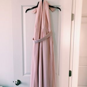 Blush Halter Dress